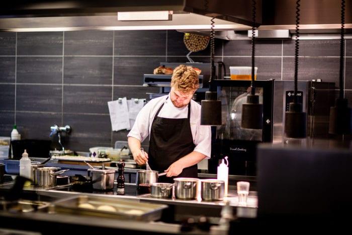 chef in a restaurant kitchen