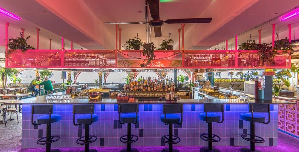 bar seating area