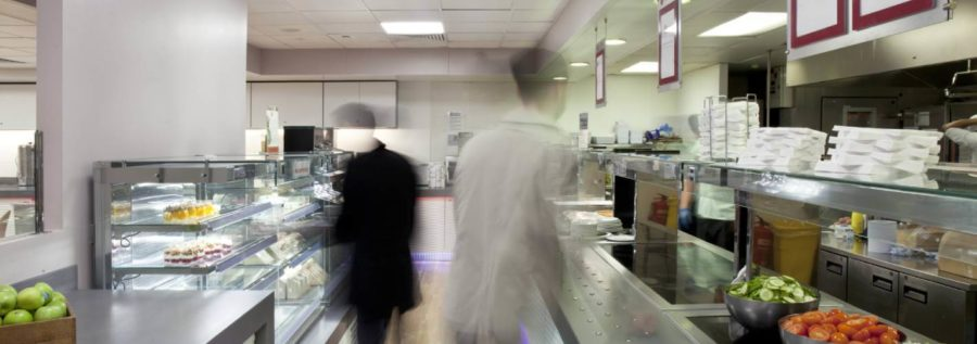 modern staff canteen fit out